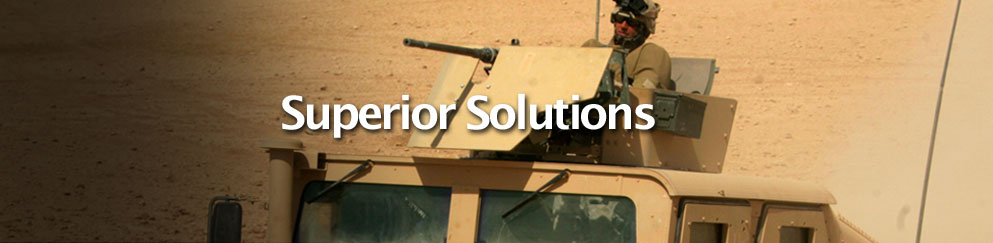 Superior Industrial Coating work on military vehicle
