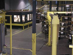 Interior view of manufacturing space at Superior Industrial Coating in Racine, Wisconsin.